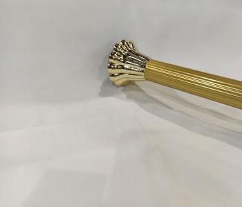Barral extensible estriado oro